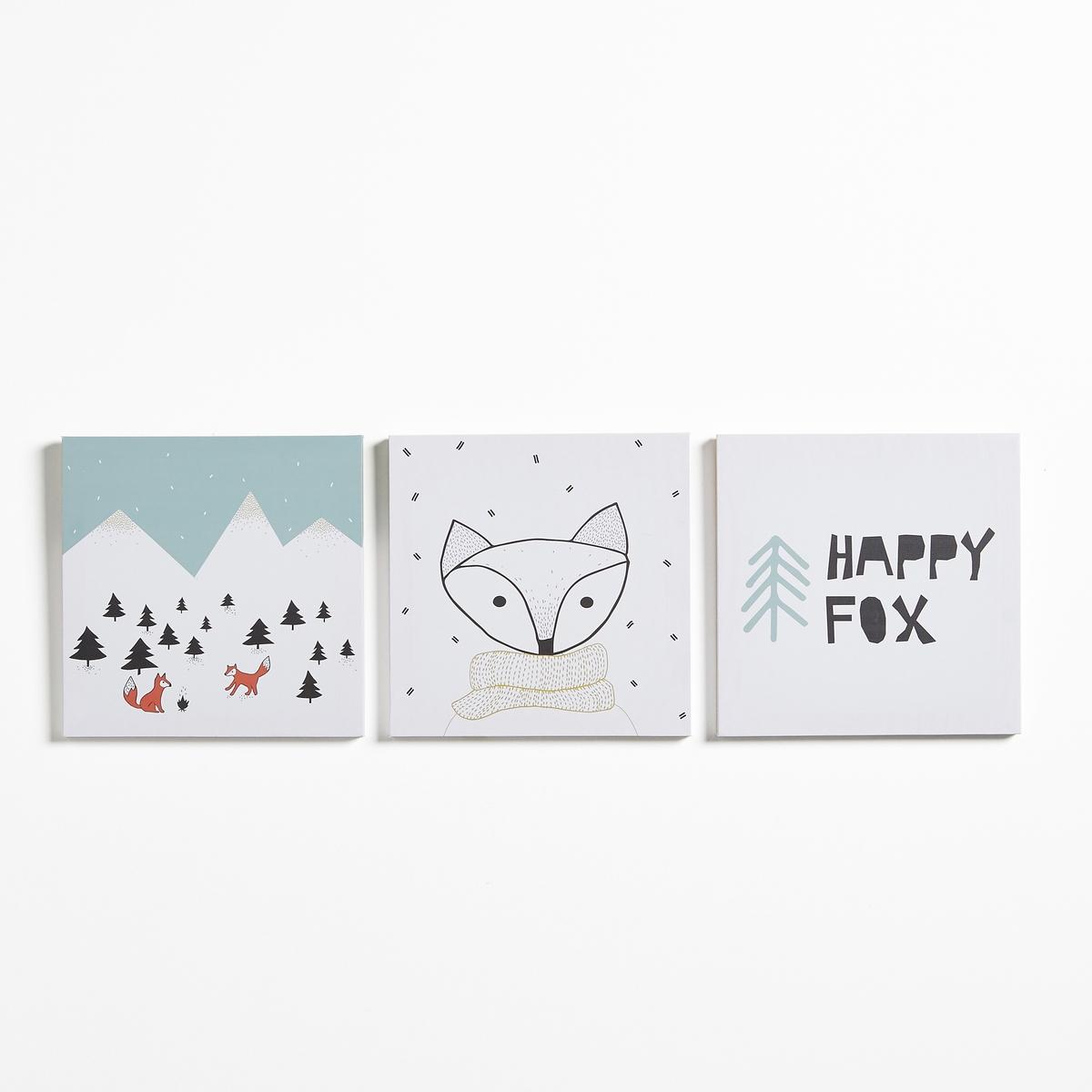 Комплект из 3 декоративных детских картин COVENT