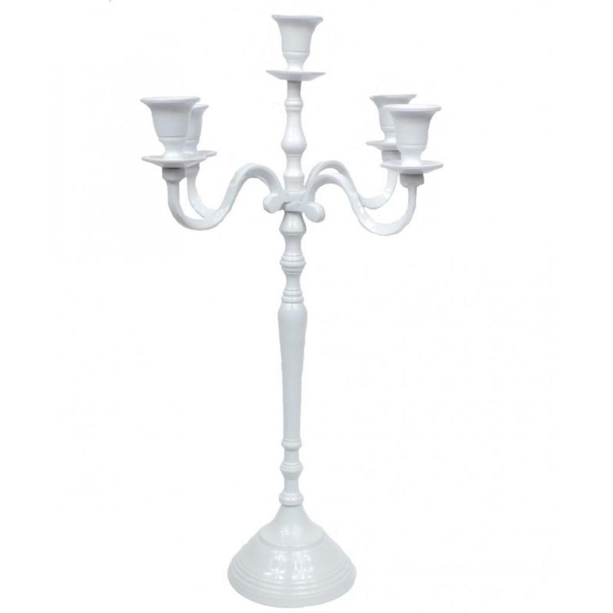 Chandelier Baroque Blanc Victoria - 77cm