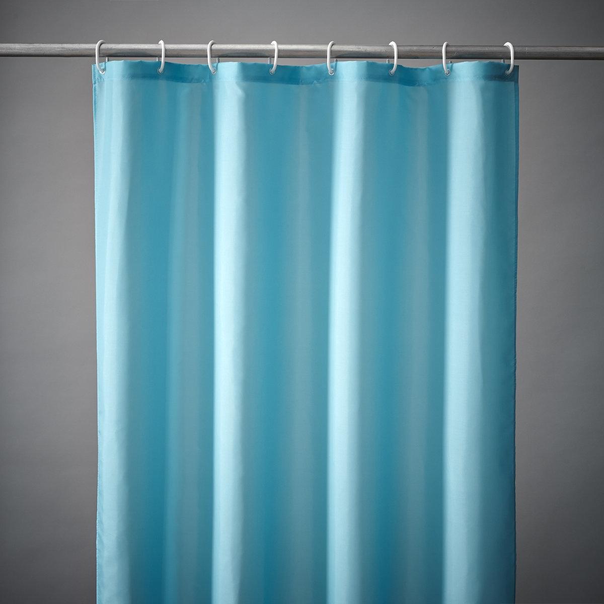 Штора для душа Sc?narioКрепление с помощью пластиковых прозрачных крючков, идут в комплекте.Низ с грузиками для идеального натяжения.Размер шторы для душа: высота 200 см, два варианта ширины: 120 см или 180 см.<br><br>Цвет: белый,голубой бирюзовый,зеленый анис,светло-серый,синий океан,слоновая кость,темно-серый<br>Размер: 180 x 200 см.120 x 200 см.180 x 200 см
