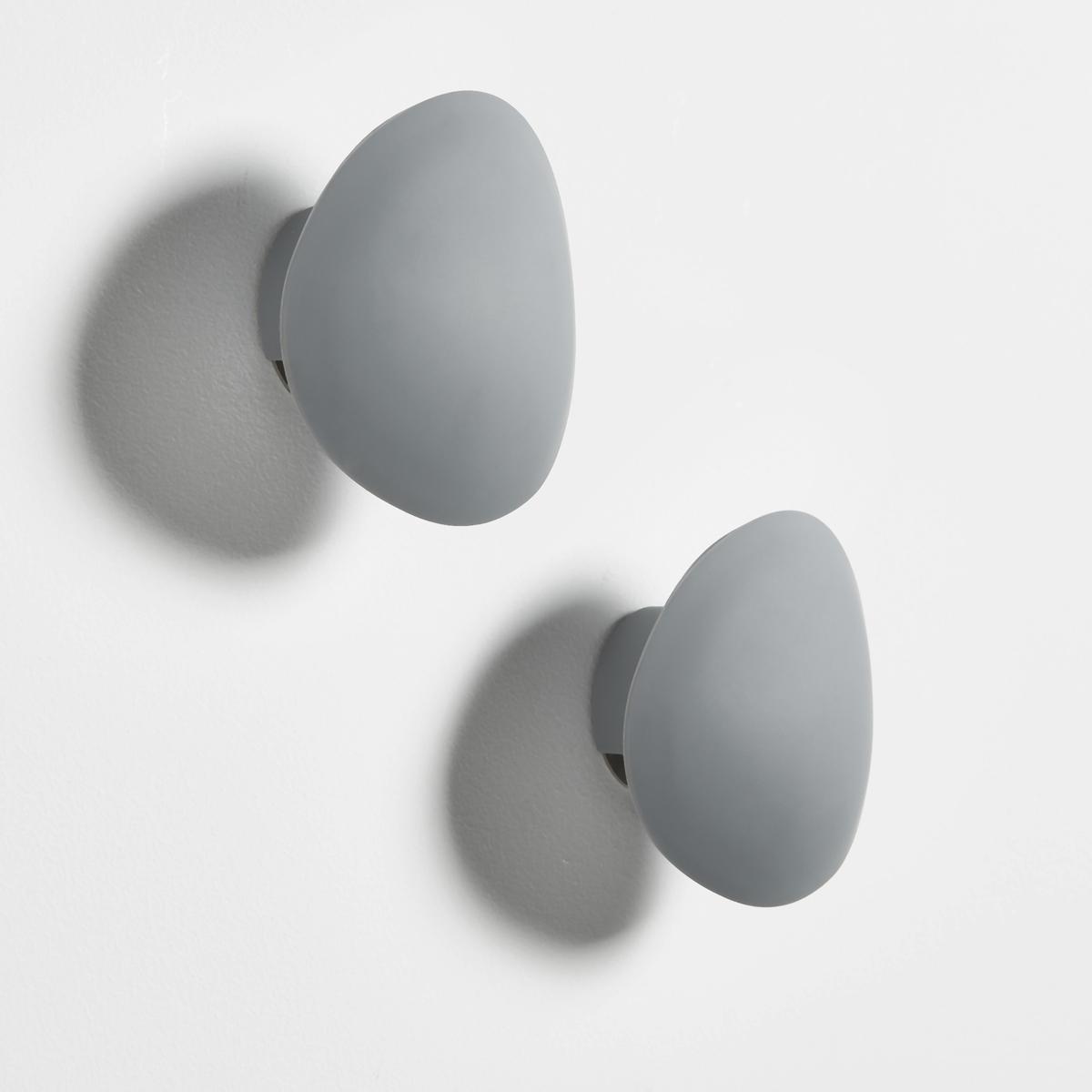 Вешалка в форме гальки, 2 шт.Комплект из 2 вешалок в форме гальки - оригинальное украшение в стиле дзенОписание вешалки:Комплект из 2 вешалок в форме гальки для крепления к стенеХарактеристики вешалок:Комплект из 2 вешалок в форме гальки из АБС-пластикаКрючок из нержавеющего металла с хромированной отделкой.Размеры вешалки: Д10 x В10 x Г4 смВес : 0,058 кг- Шурупы и дюбели продаются отдельноРазмеры упаковки :15 x 0,8 x 1,5 смВес : 0,116 кг<br><br>Цвет: серый,черный
