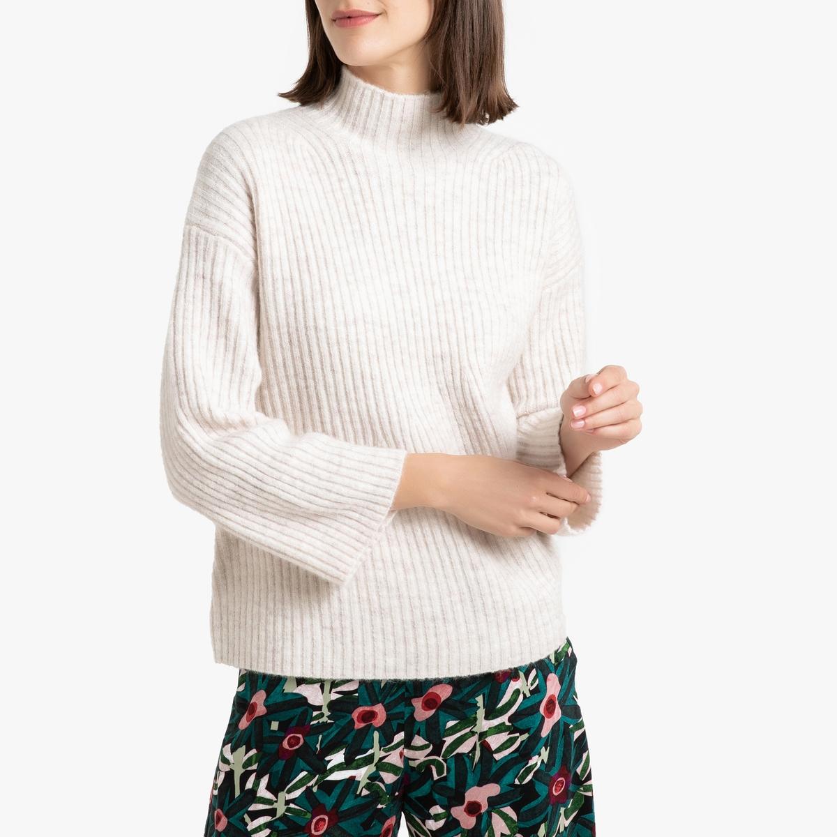 Пуловер La Redoute С круглым вырезом из плотного трикотажа PYRA 3(L) белый пуловер la redoute с круглым вырезом из шерсти мериноса pascal 3xl черный