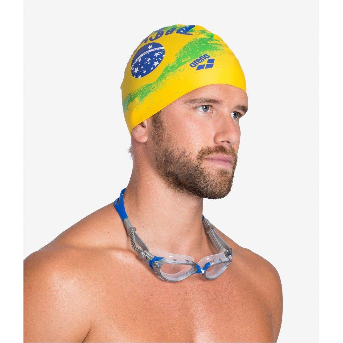 Bonnet de natation PRINT 2 FLAG_BRASIL YELLOW