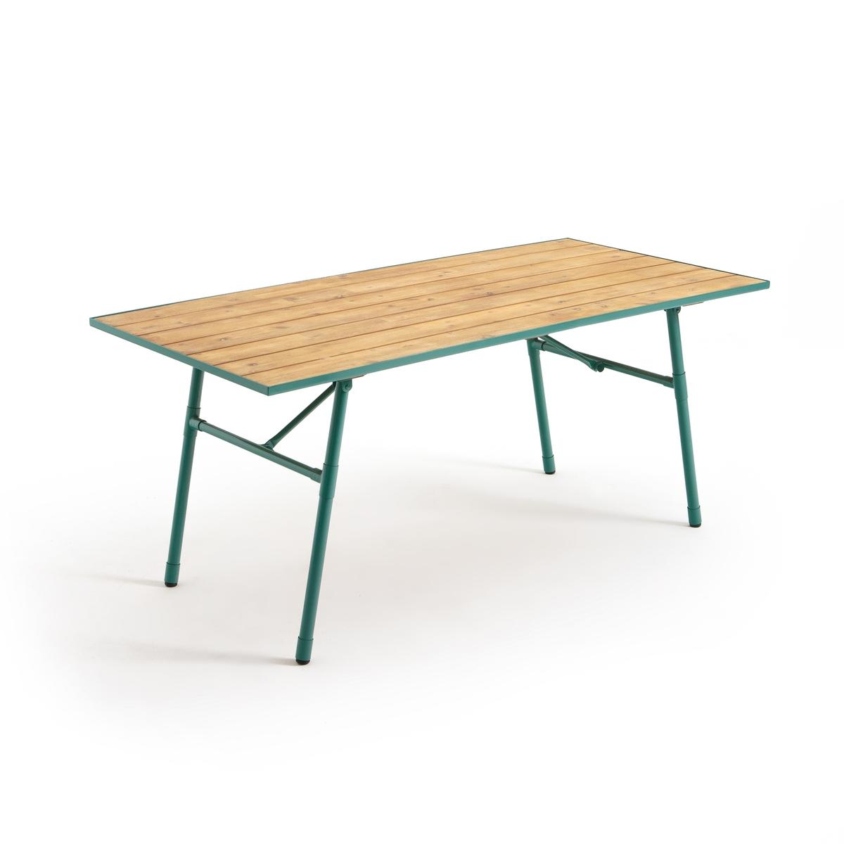 Стол La Redoute Складной для сада Sohan единый размер зеленый