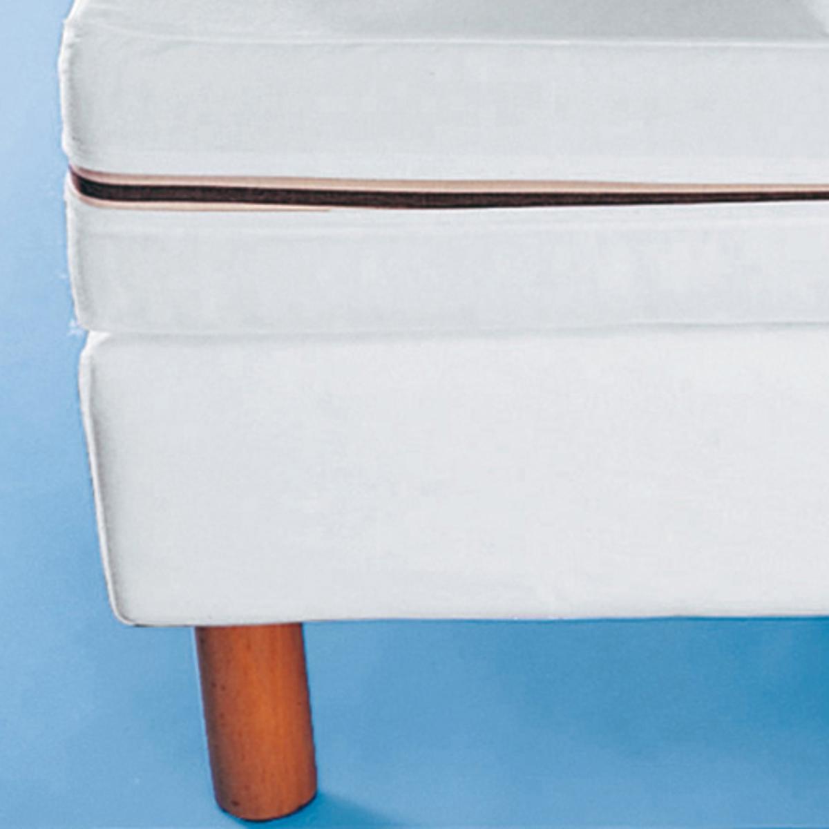 Наматрасник цельный для матраса толщ. от 15 до 18 смЛегкость ухода : Машинная стирка 40°, не требует глажки.<br><br>Цвет: белый,синий<br>Размер: 90 x 190 см