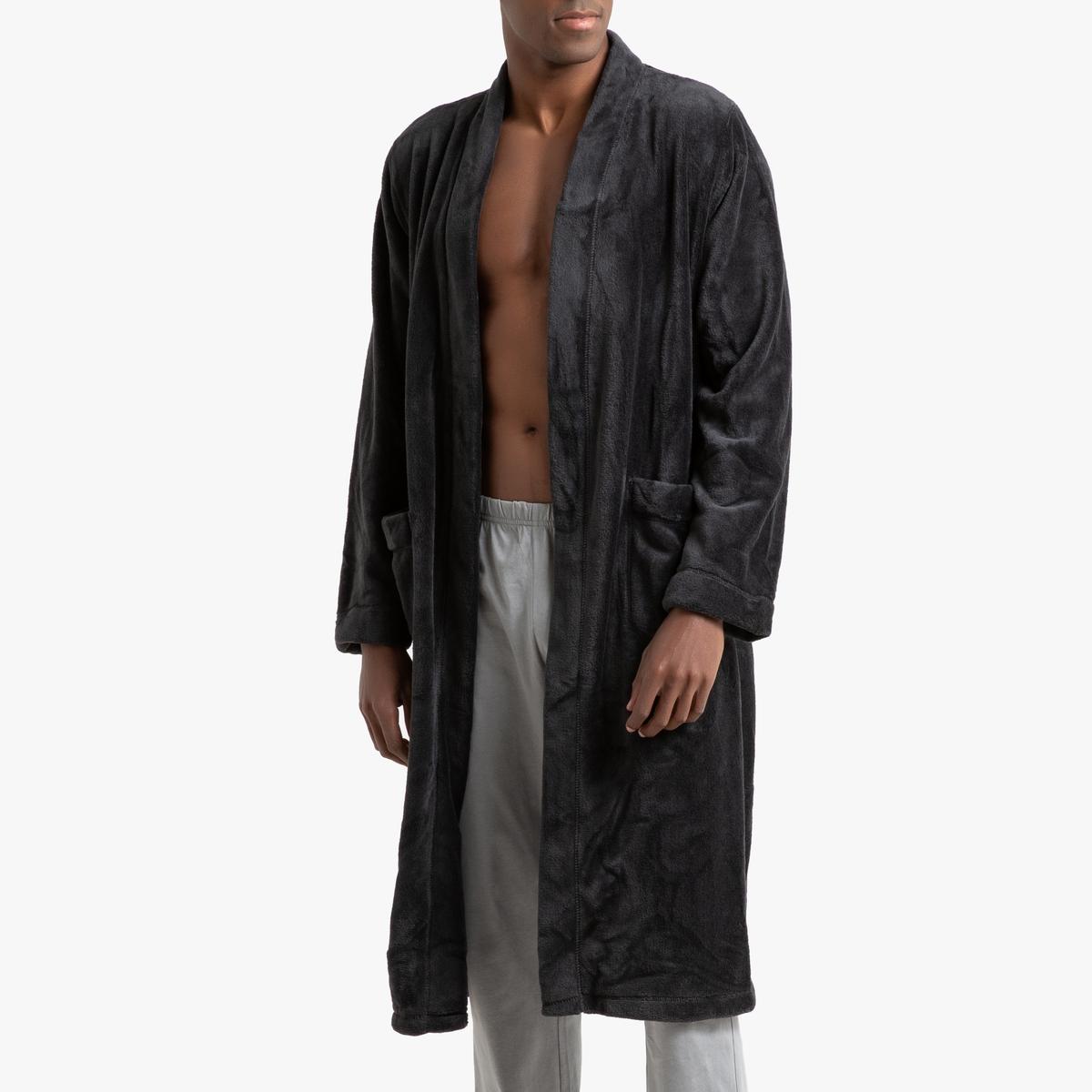 Халат La Redoute Домашний из флиса XXL серый халат домашний laete laete mp002xw0fx5r