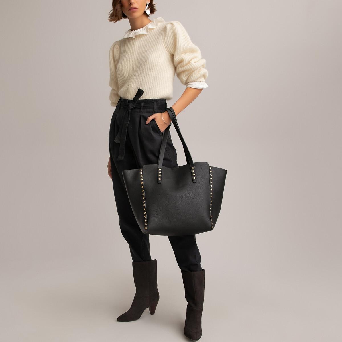 Сумка-шоппер LaRedoute La Redoute единый размер черный пуф la redoute из шерсти carito единый размер серый