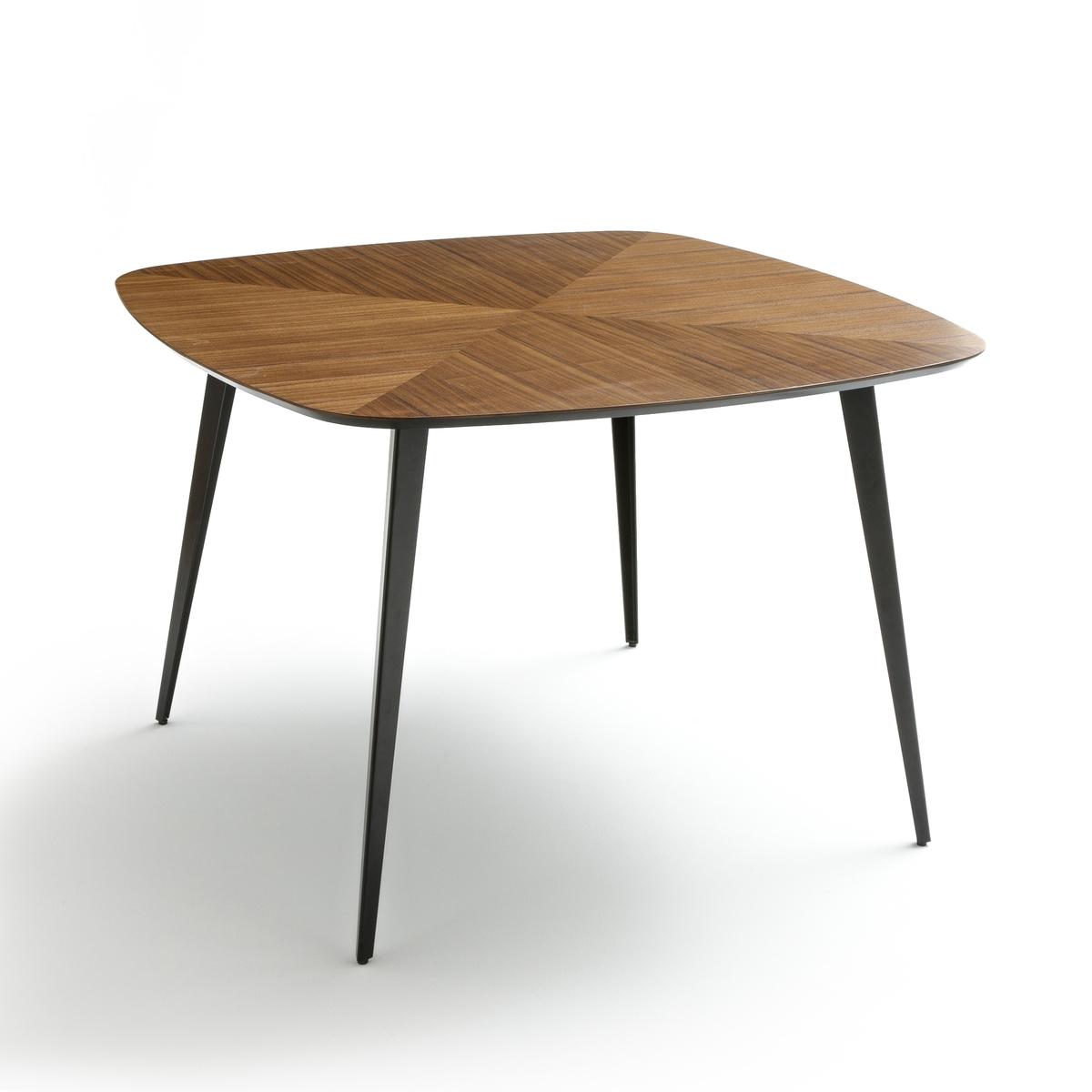 Стол LaRedoute Обеденный в винтажном стиле в крапинку на 4 персоны Watford 4 персоны каштановый стол laredoute обеденный круглый на 4 персоны authentic style 4 персоны белый