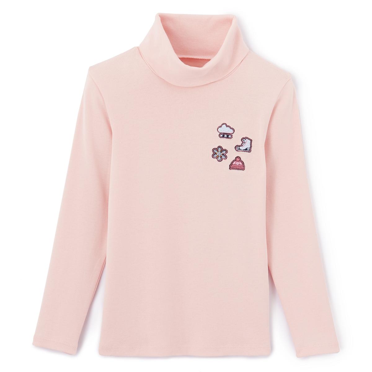 Пуловер тонкий с нашивками 3-12 лет