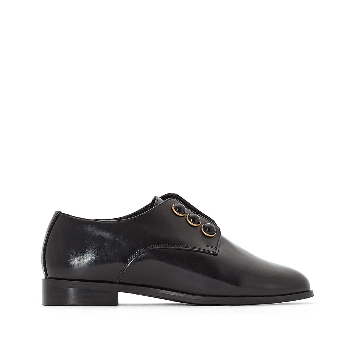 Ботинки-дерби кожаные с декоративным украшением