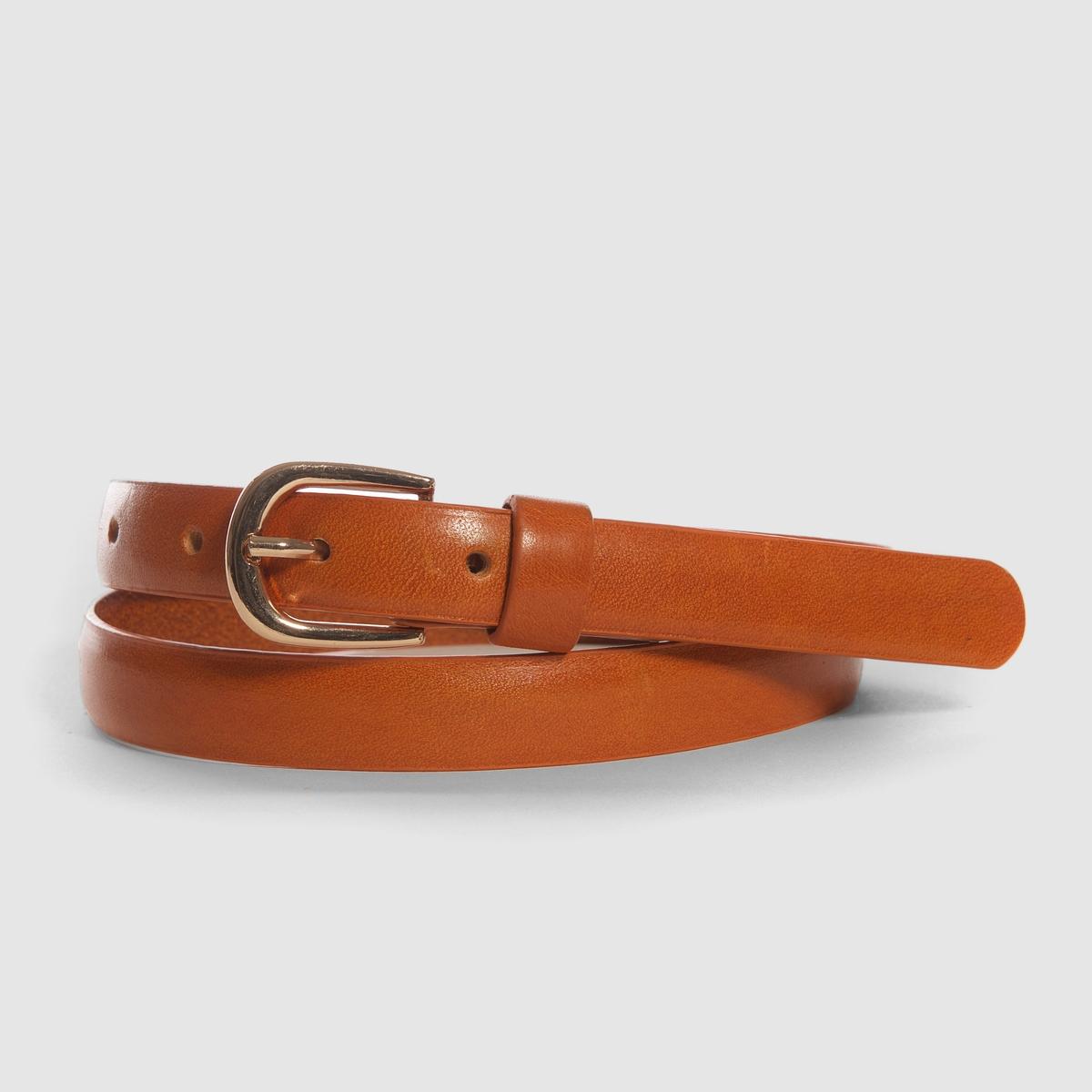 Ремень тонкий кожаныйСостав и описаниеМатериал 100% яловичная кожа Марка Atelier RРазмер : 2 см   Застежка : металлическая пряжка<br><br>Цвет: темно-бежевый,черный