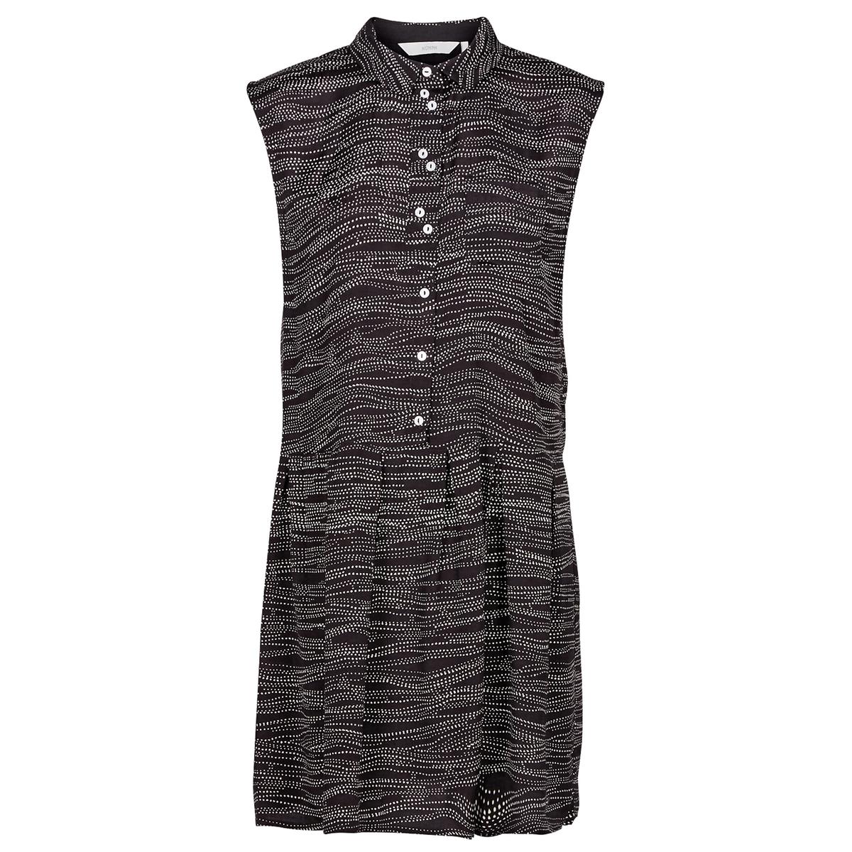 Платье-рубашка с рисунком, без рукавов ostin удлинённая рубашка без рукавов