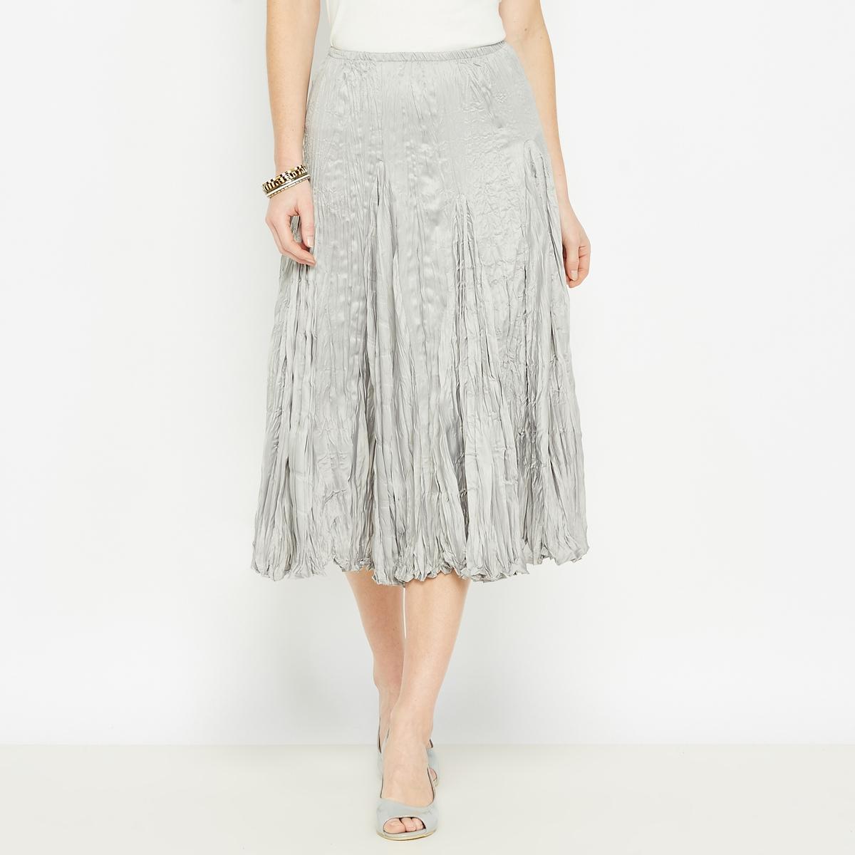 Длинная юбка из полиэстераДетали •  Форма : плиссированная •  Длинная  •  Эластичный поясСостав и уход •  100% полиэстер •  Машинная стирка при 40° •  Отбеливание запрещено •  Не использовать барабанную сушку •  Не гладить<br><br>Цвет: серый