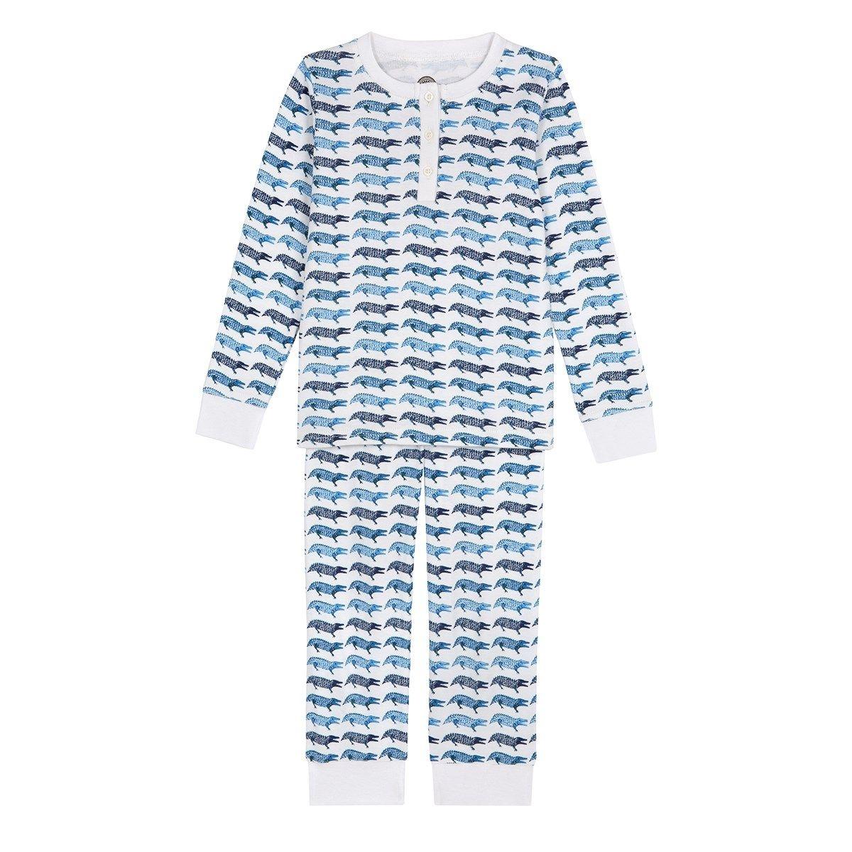 Pyjama en coton bio - imprimé Crocodile
