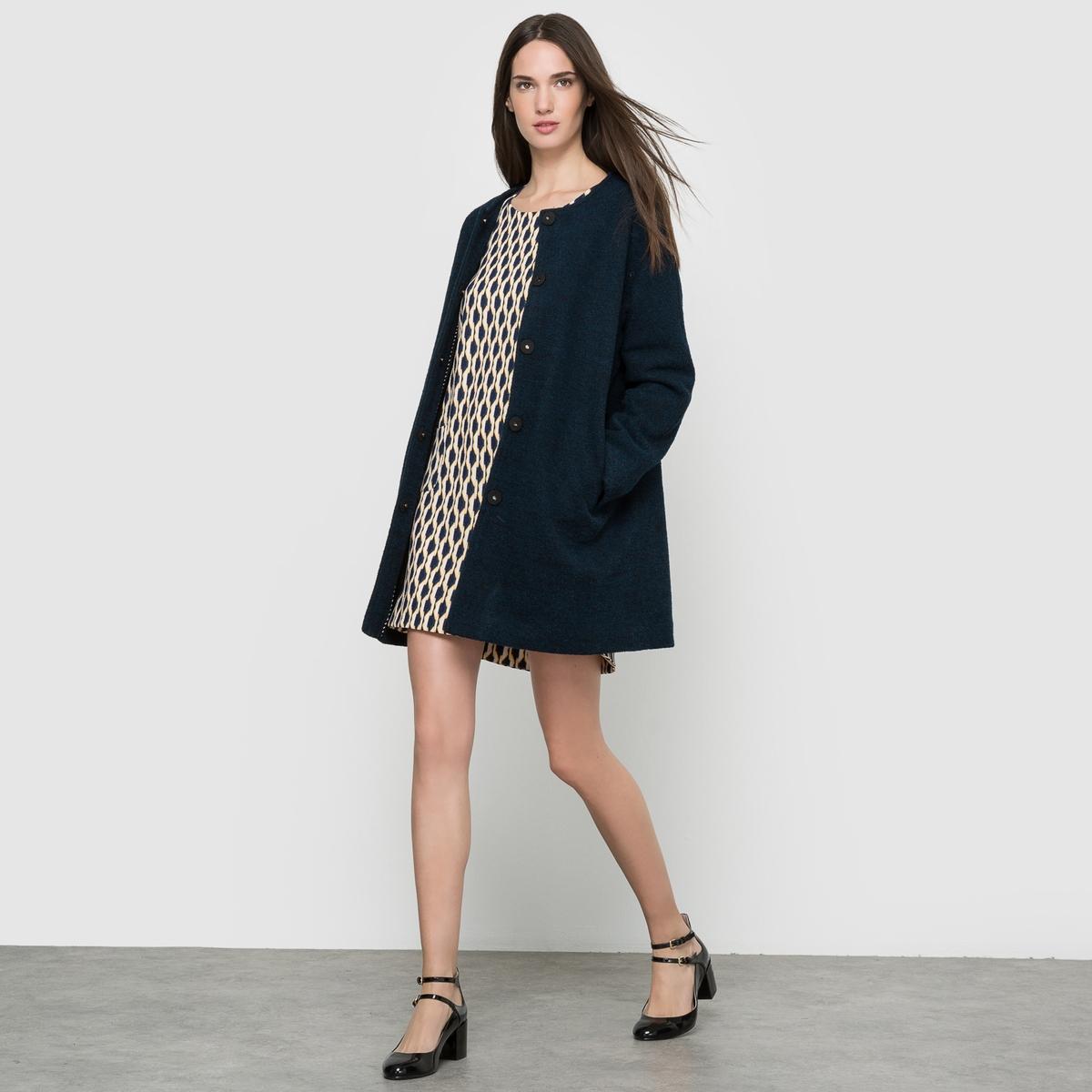 Пальто, 50% шерсти. пальто драповое 30% шерсти