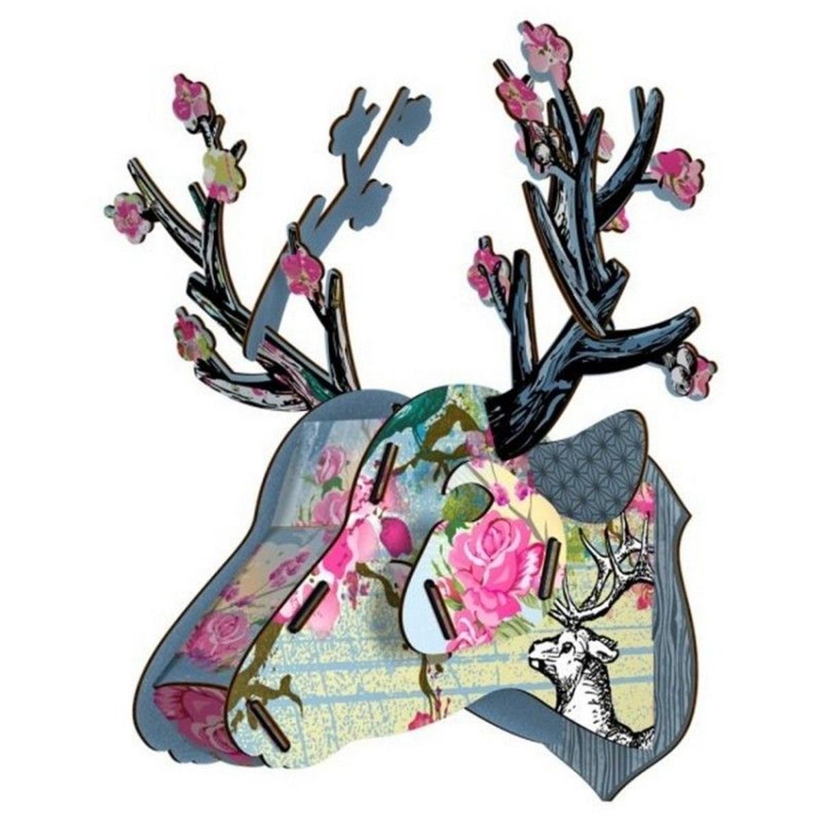 Tête de cerf mini trophée décoration murale bois  It's a Gem