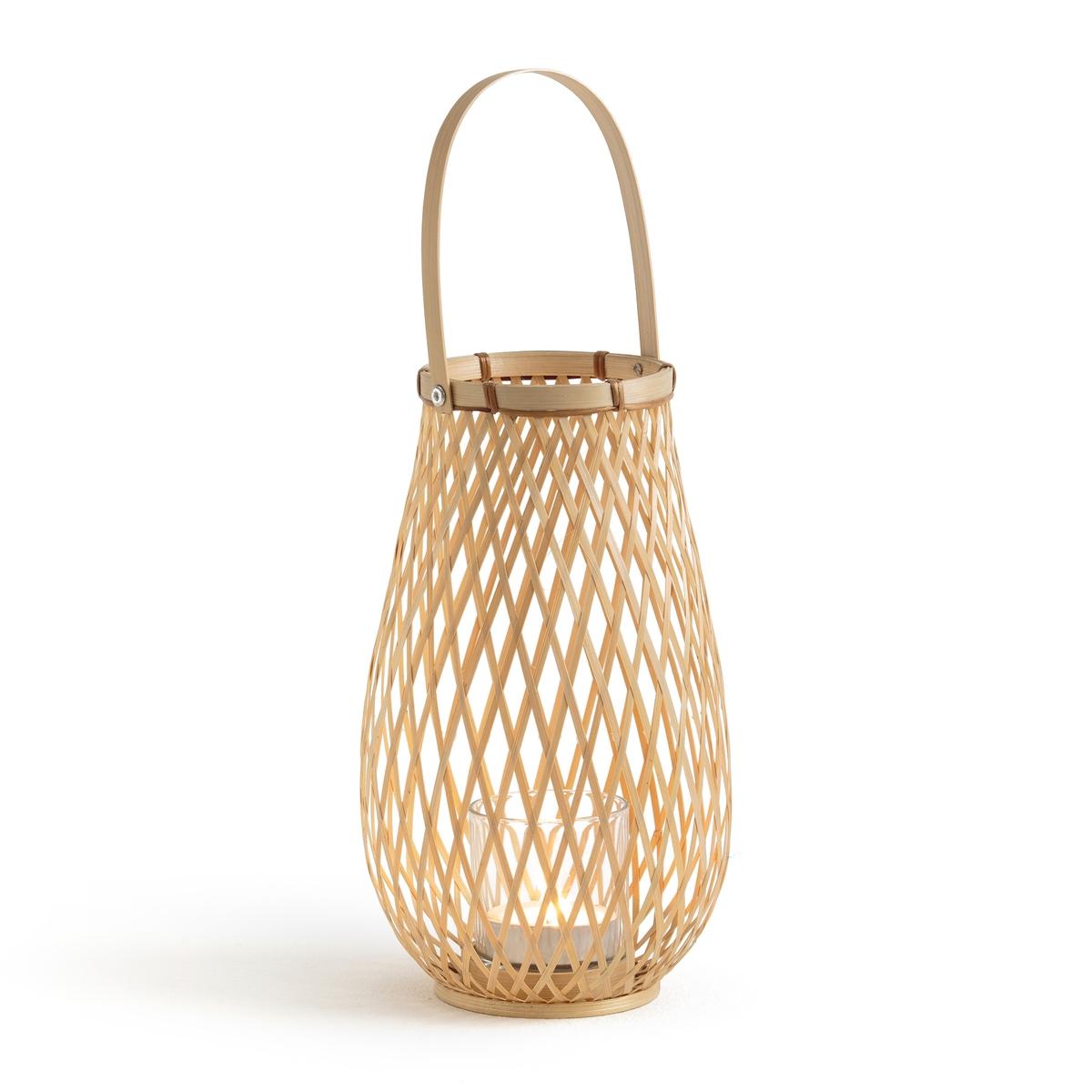 Подсвечник La Redoute Из бамбука Tully единый размер бежевый