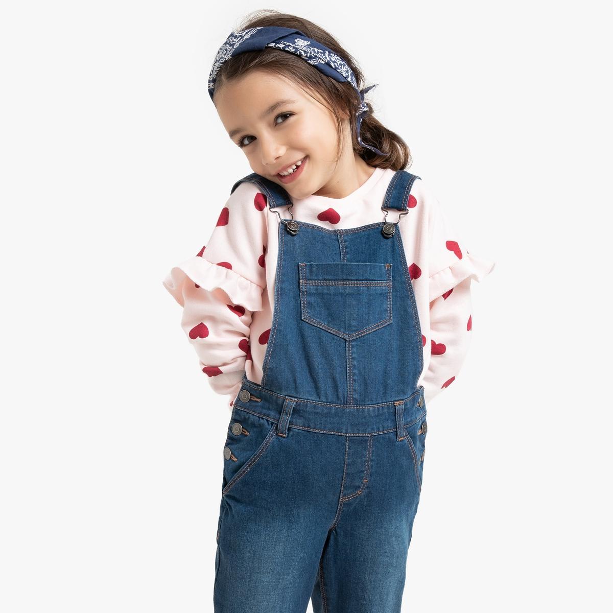 Свитшот La Redoute С круглым вырезом и принтом сердечки 10 лет - 138 см другие платье свитшот с принтом 10 16 лет