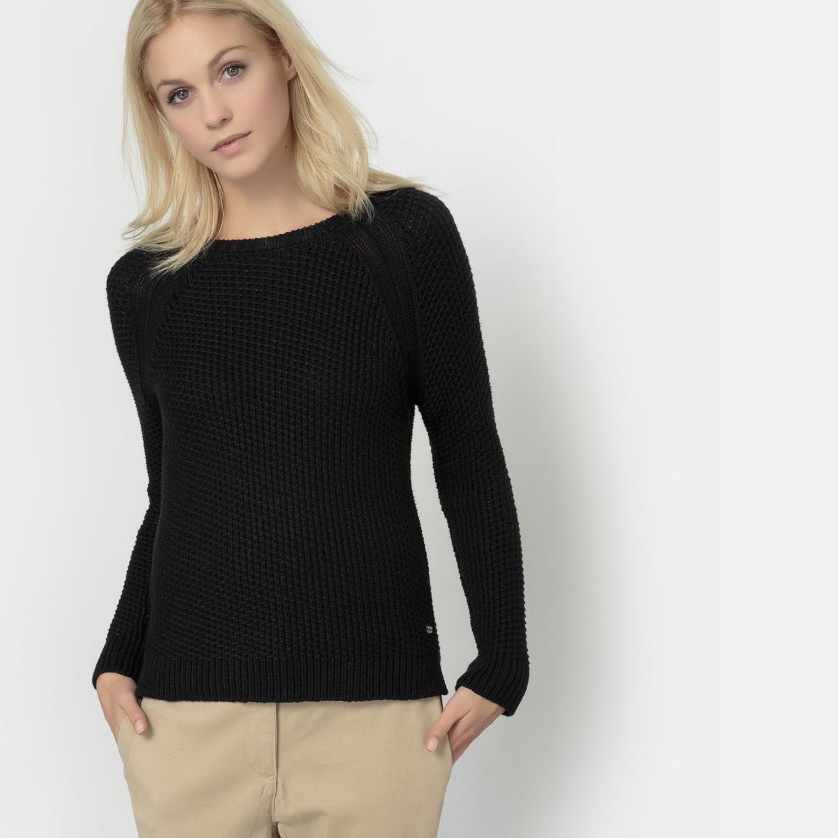 Пуловер с длинными рукавами, PENNYСостав и описаниеМарка: PEPE JEANS.Модель: PENNYМатериал: 40% акрила, 32% хлопка, 28% полиамида.<br><br>Цвет: черный<br>Размер: M