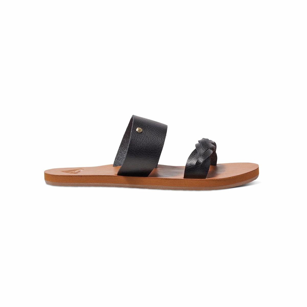 Сандалии Tess JВерх : синтетика   Подошва : каучук   Форма каблука : плоский каблук   Мысок : открытый мысок   Застежка : без застежки<br><br>Цвет: черный<br>Размер: 36.38.37