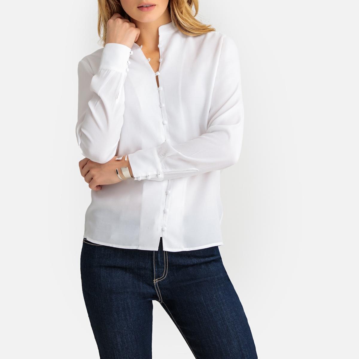Imagen secundaria de producto de Camisa con cuello mao, manga larga - Anne weyburn