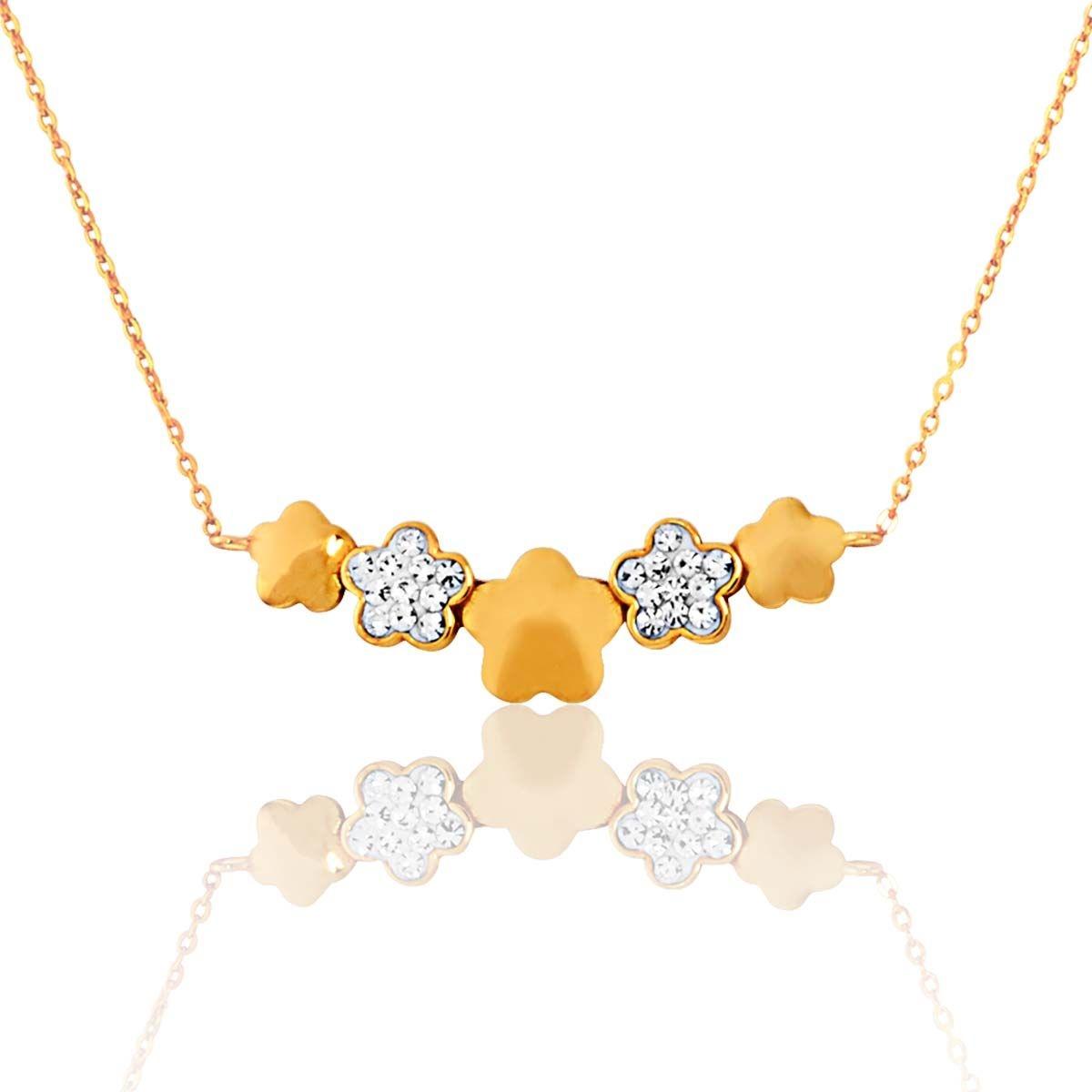 Collier en Or 375/1000 Cristal