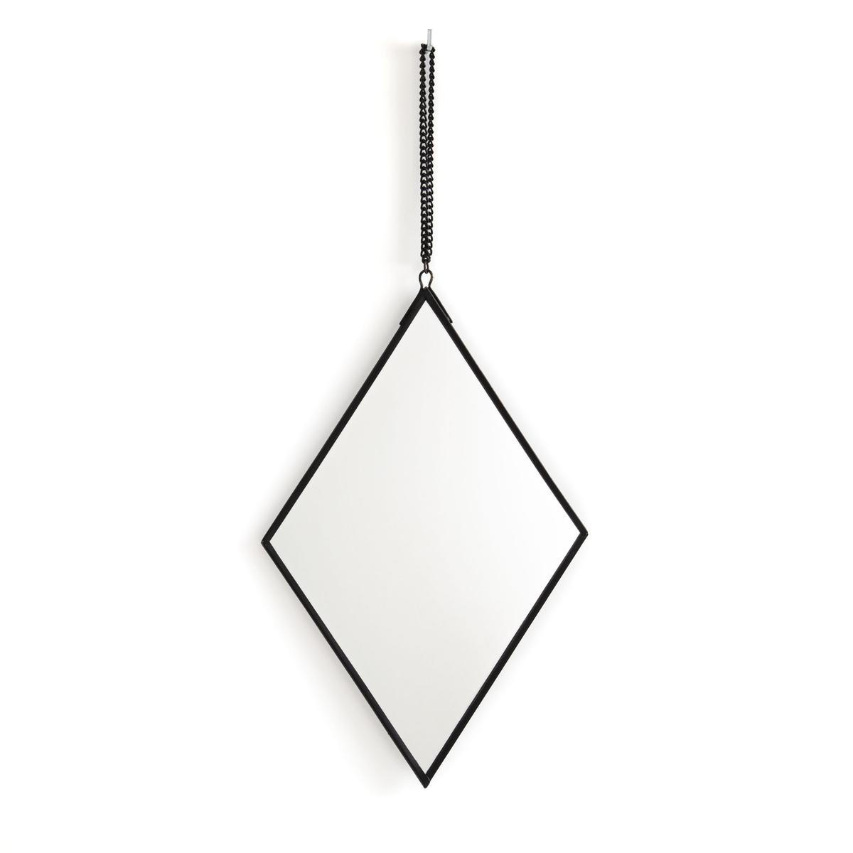 Зеркало LaRedoute Из двух треугольников Uyova единый размер черный