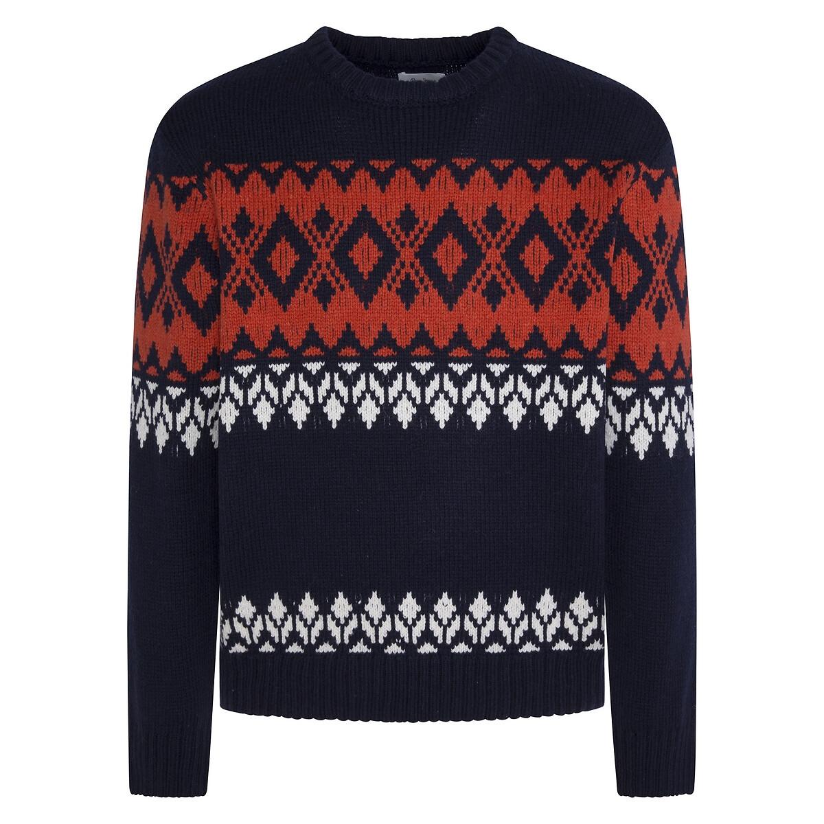 Пуловер LaRedoute С круглым вырезом Jhon XXL синий