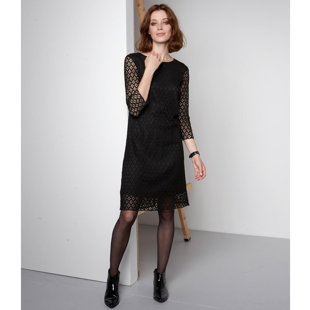 Платье-трапеция кружевное