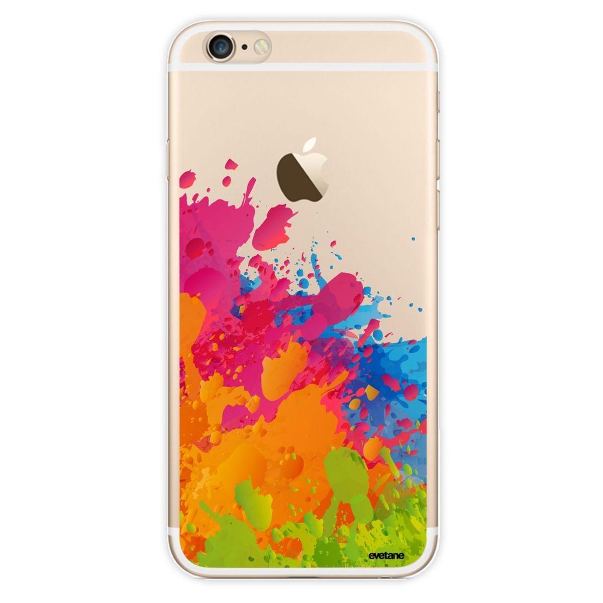 Coque iPhone 6 Orange et rose