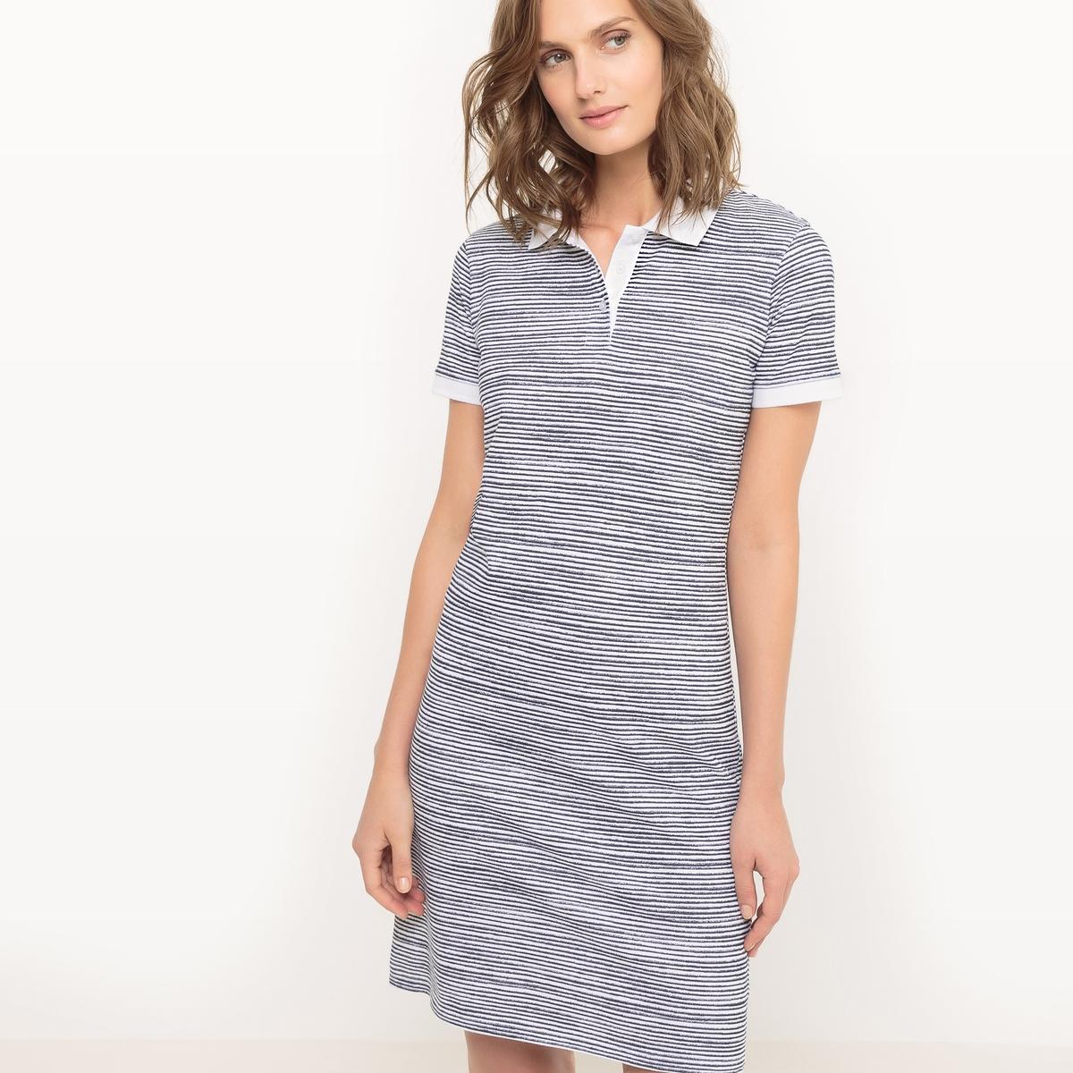 Платье-поло в полоску
