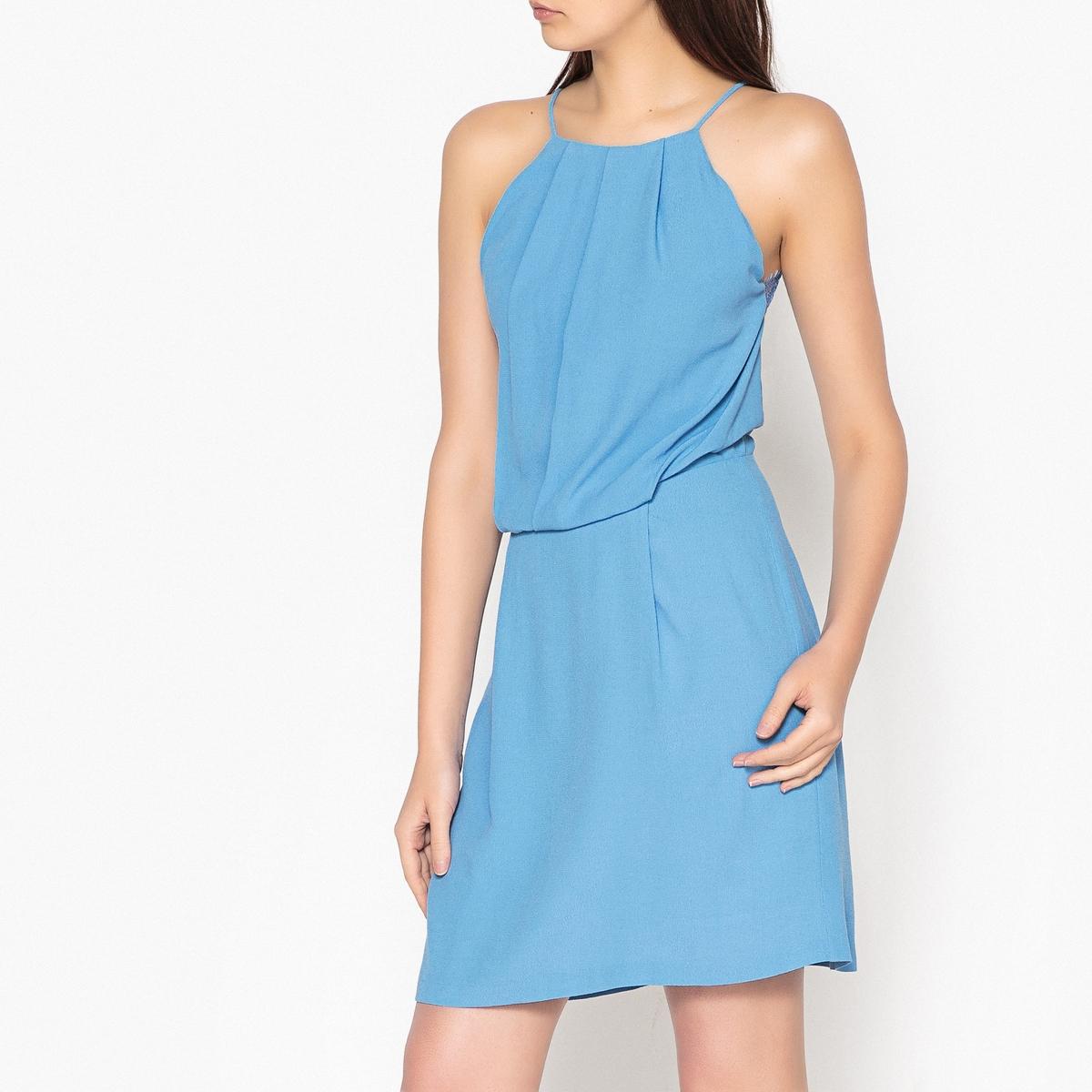 Платье короткое на тонких бретелях с кружевом WILLOW шерстяное платье на тонких бретелях