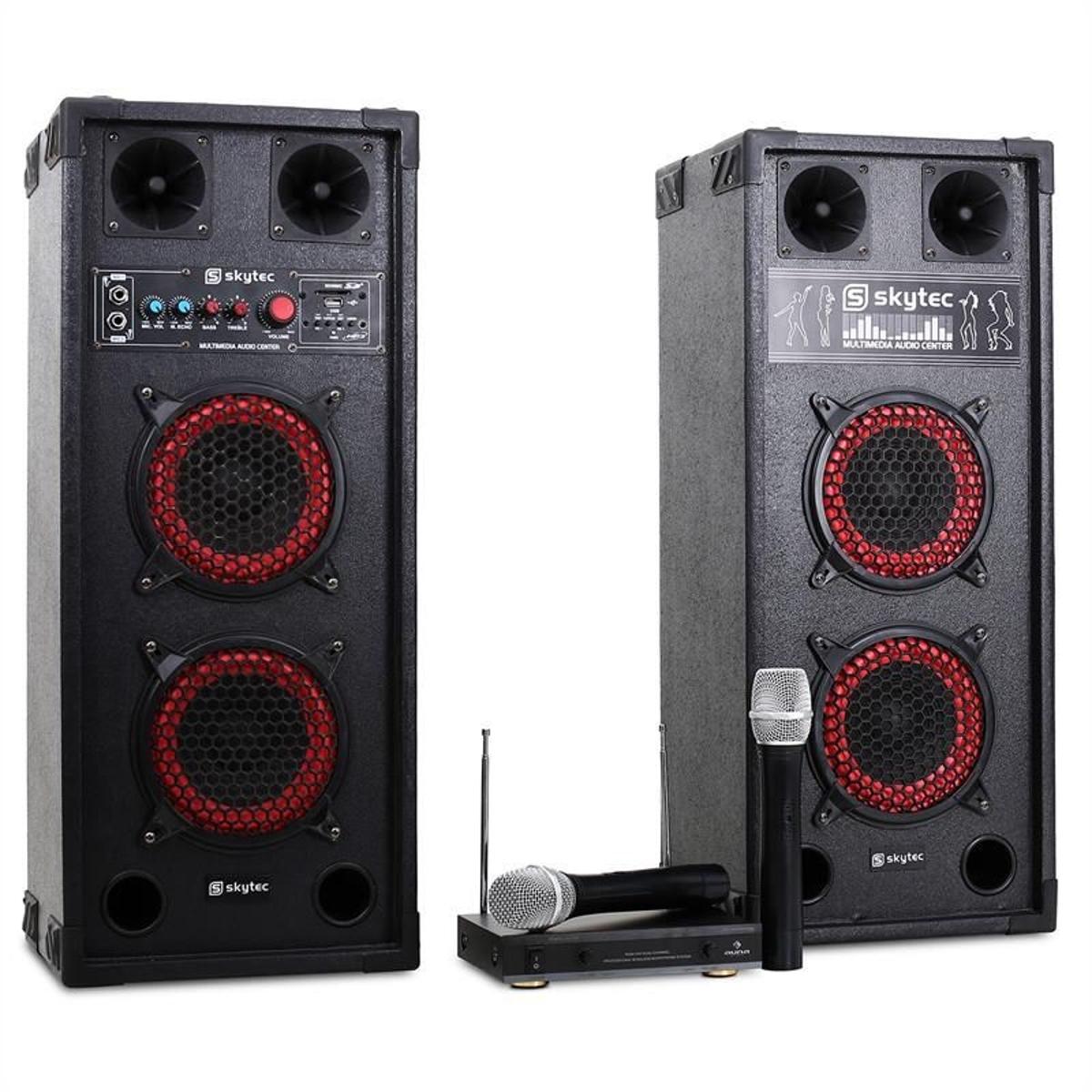Chaine Karaoke STAR-Wedding Enceintes PA Micro Sans Fil 600W
