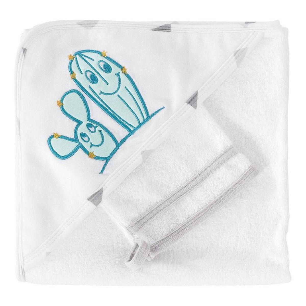 Sortie de bain bébé et gant