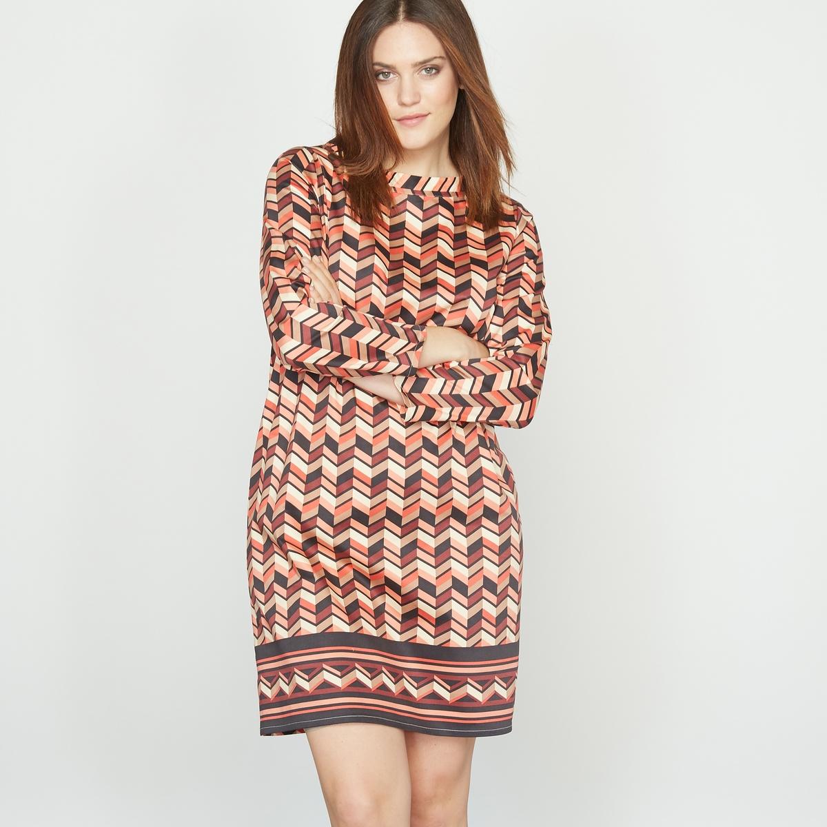 Платье с рисунком из хлопка стрейч платье с рисунком pandor