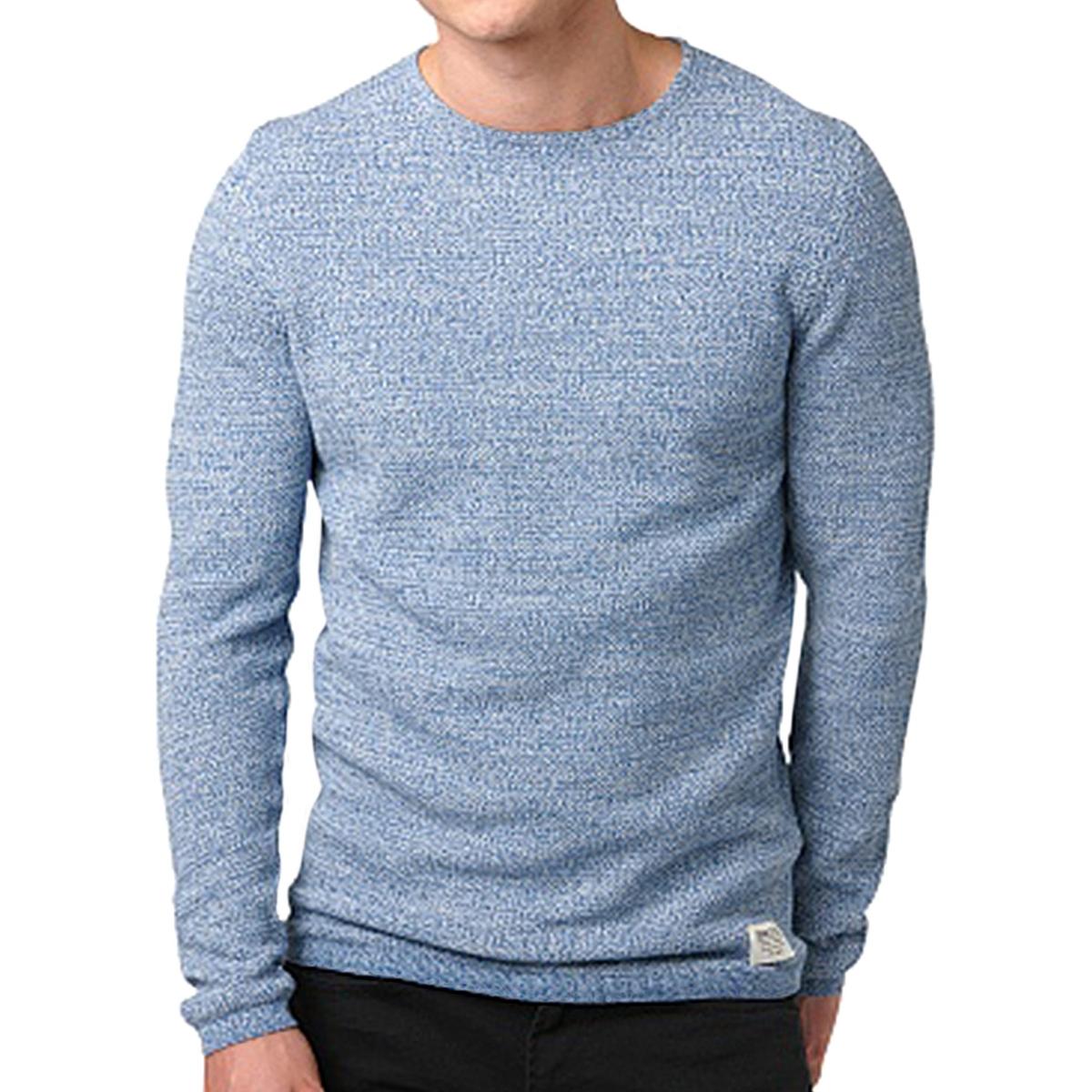 Пуловер хлопковый из трикотажа-мулине