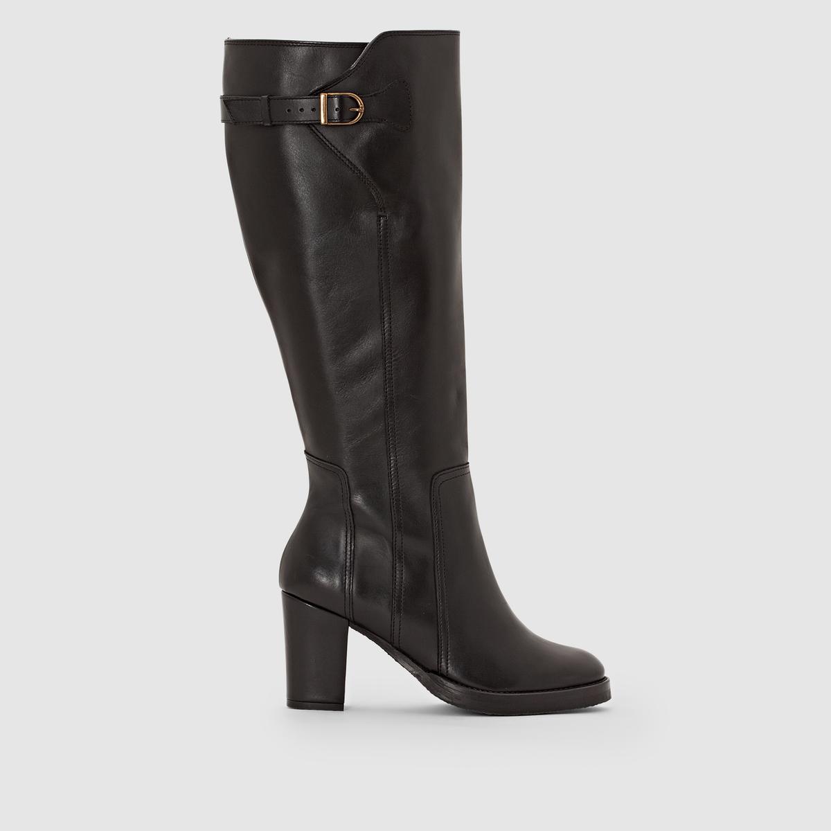Сапоги кожаные с креповой подошвой на широкую ногу, размеры 38-45