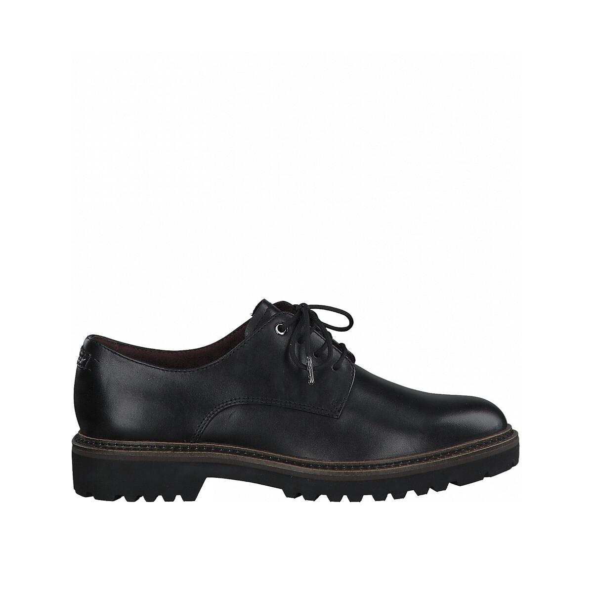 Ботинки-дерби LaRedoute Кожаные 37 черный ботинки дерби из кожи teadale maira