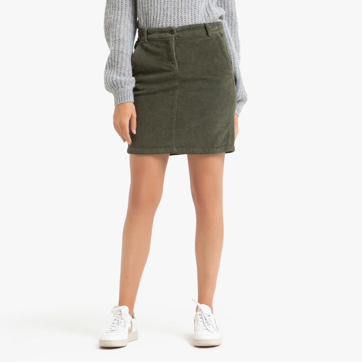 Юбка La Redoute Короткая прямая из велюра JULES 3(L) зеленый юбка жаккардовая короткая