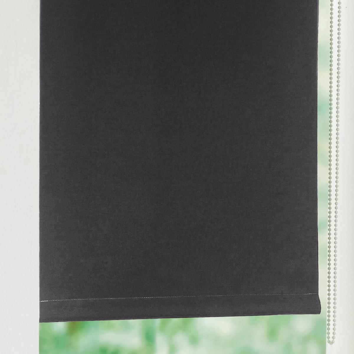 Штора LaRedoute Затемняющая узкая Scenario 170 x 42 см черный