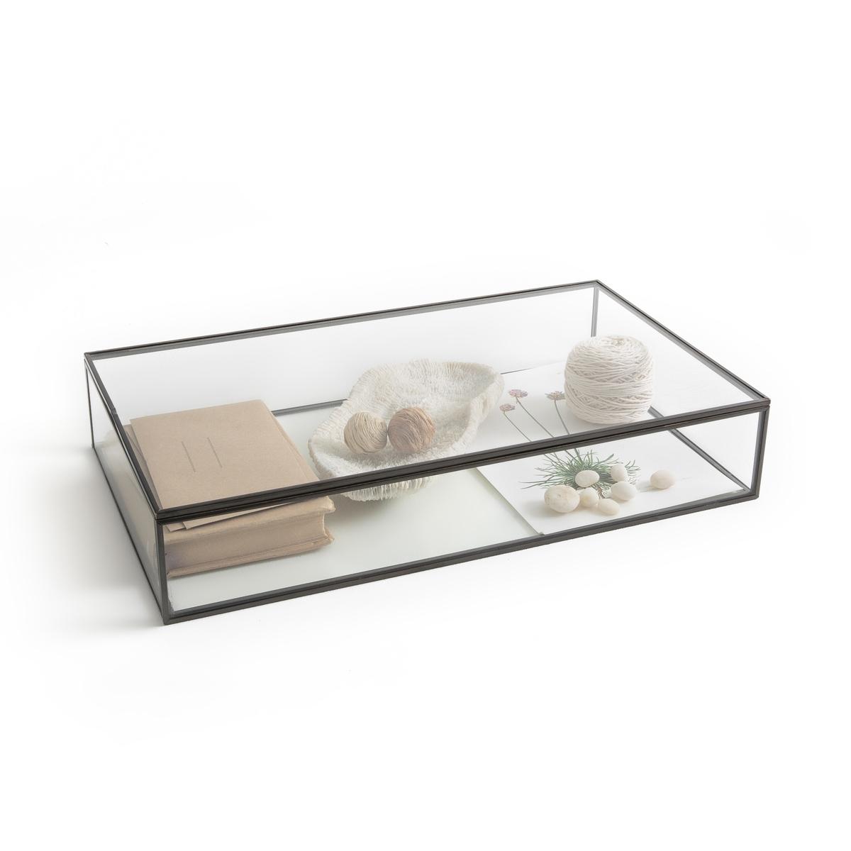 Коробка-витрина Ш.50xВ.9xГ.29 см, DigoriКоробка Digori. Коробка для хранения и демонстрации украшений, драгоценностей и других ценных предметов.Описание  :- Из стекла и металла с отделкой под латунь или оружейную сталь с эффектом старения.- Очень качественная отделка :- Ш.50 x В.9 x Г.29 см- Толщина стекла : 0,4 мм<br><br>Цвет: темно-серый металл