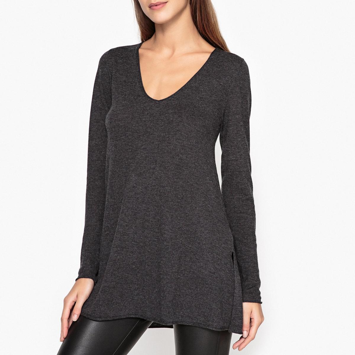 Пуловер с V-образным вырезом BLOSSOM