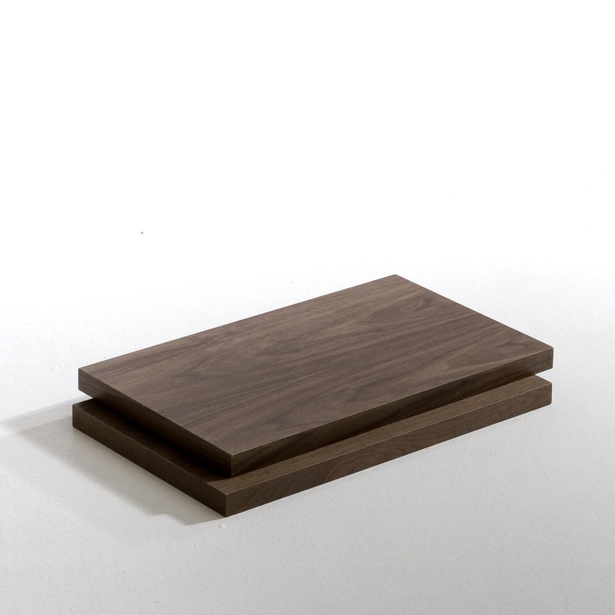 Полка Kyriel для гардеробнойПолка из МДФ с ПУ-лакировкой, матовая или под орех Kyriel . Для крепления на стойки на необходимой высоте с помощью угловых кронштейнов для полок.Мебель для гардеробной Kyriel - это модулируемая при желании система, эстетичная и практичная, созданная для любых пространств и стилей . 2 размера : -  Размер S : Ш.60 x В.3,5 x Г.36 см- Размер M : Ш.110 x В.3,5 x Г.36 см<br><br>Цвет: ореховый,черный