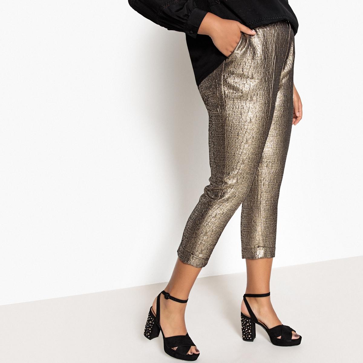 Брюки узкие, дудочки, с жаккардовым рисунком брюки узкие дудочки