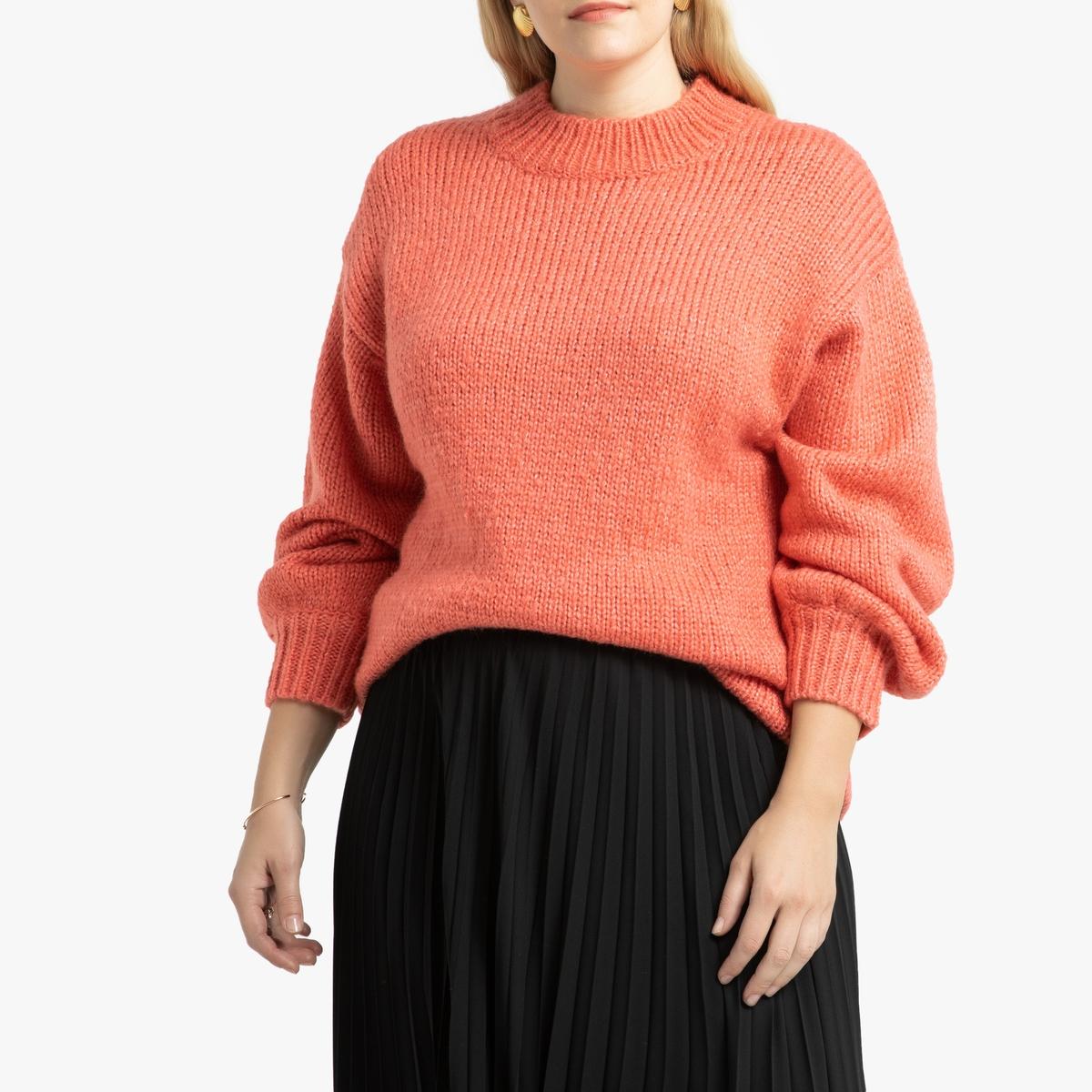 Пуловер La Redoute С воротником-стойкой 46/48 (FR) - 52/54 (RUS) розовый