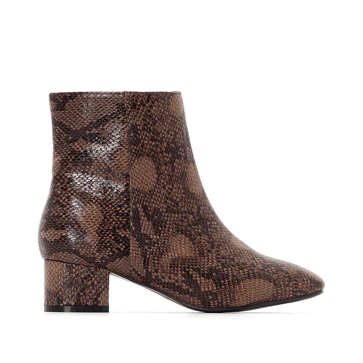 zapatillas Botines estilo serpiente con tac?n, pie ancho, del 38 al 45