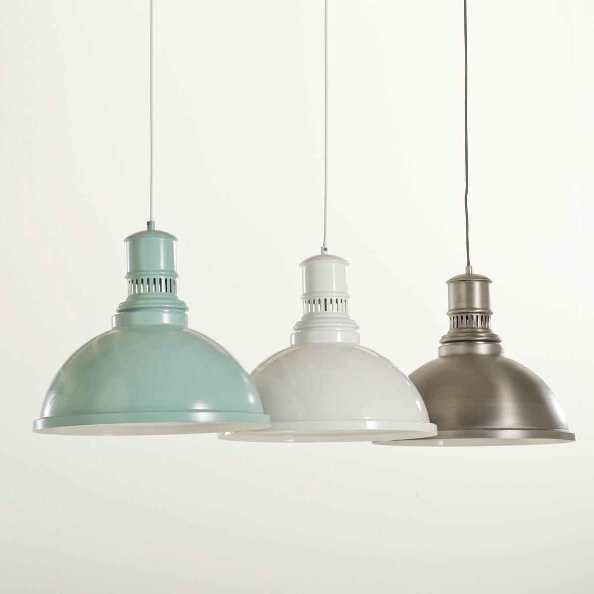 Светильник в индустриальном стиле из металла, LiziaСветильник в индустриальном стиле из металла, Lizia. Его элегантный дизайн будет хорошо смотреться как в современном, так и в винтажном интерьере Описание светильника , Lizia  :Патрон E27 для лампочки макс 60W (не входит в комплект)  .Этот светильник совместим с лампочками    энергетического класса   : A, B,C,D ,EХарактеристики светильника , Lizia  :Метал с эпоксидным покрытием бледно-зеленого цвета или метал с состаренным эффектом .Найдите коллекцию светильников на сайте laredoute.ruРазмер светильника , Lizia  :Диаметр 40 x Выс34 см<br><br>Цвет: серый металл