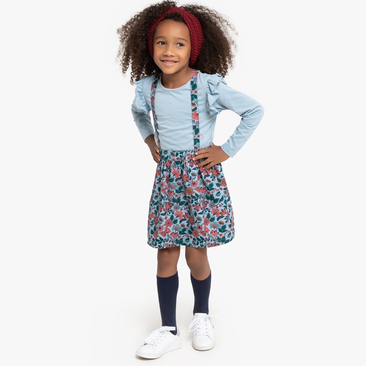 Комплект футболка и юбка на La Redoute Бретелях 12 лет -150 см синий комплект футболка и юбка на la redoute бретелях 12 лет 150 см синий