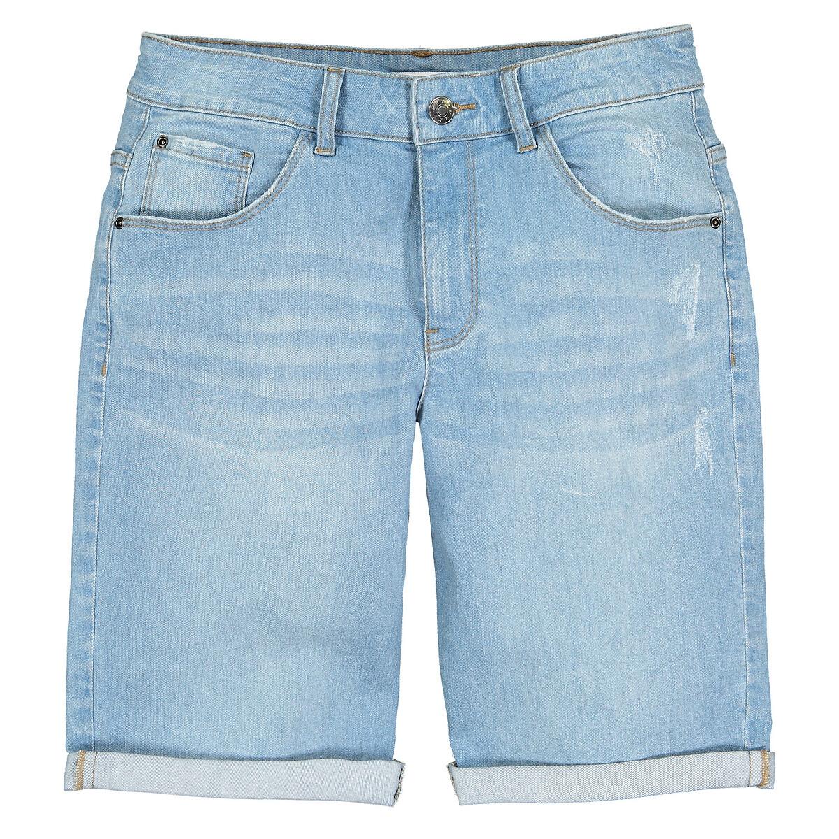 Бермуды La Redoute Из джинсовой ткани с эффектом destroy лет 10 синий бермуды la redoute из джинсовой ткани jjirrick jjicon s синий