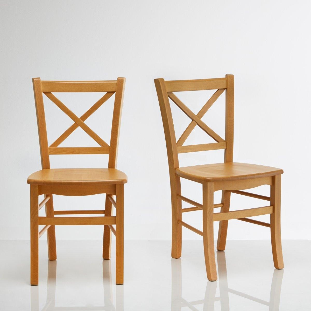 Комплект из 2 стульев из массива бука Perrine