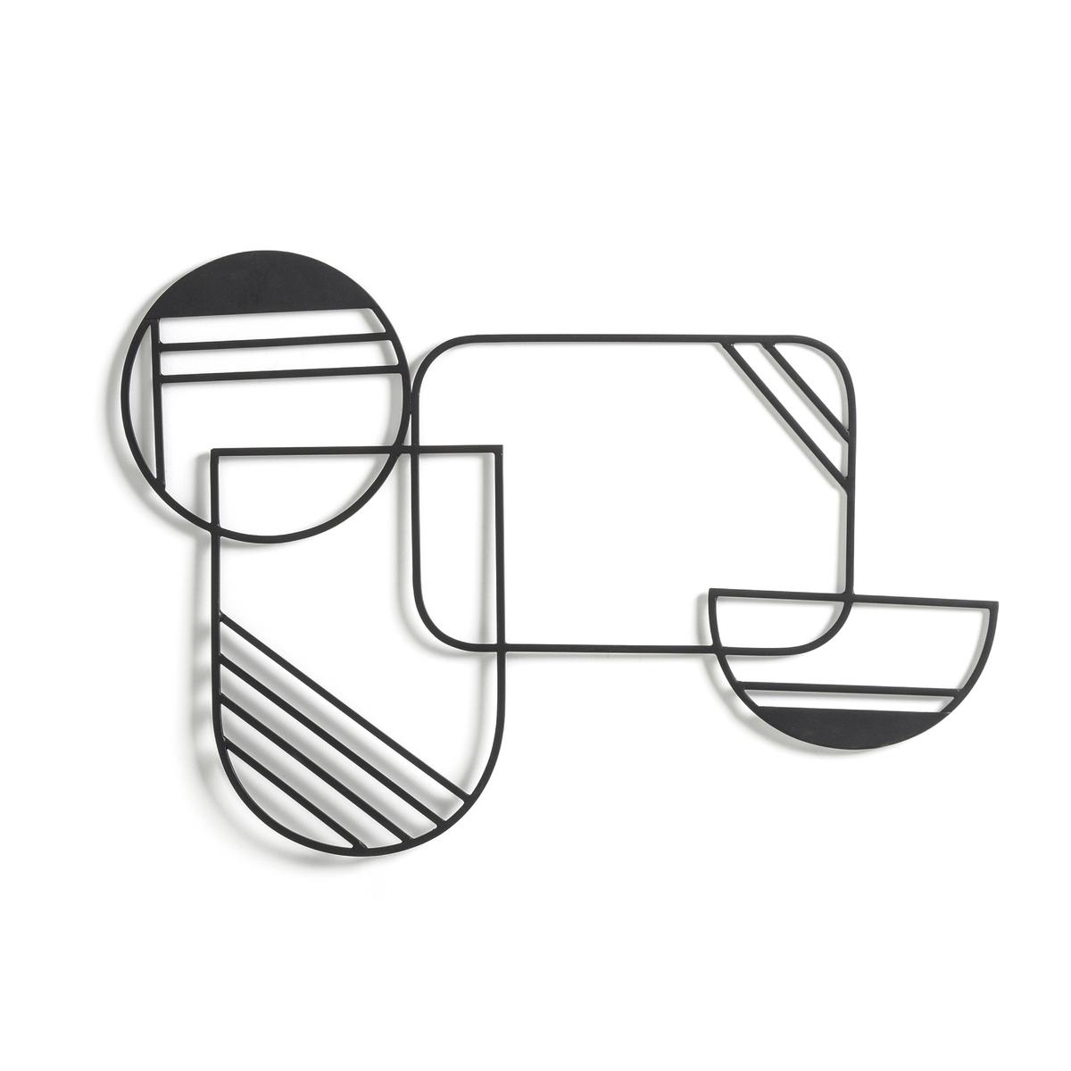 Фото - Настенное LaRedoute Украшение из металла Kazan единый размер черный корзинка laredoute с пластиковой ручкой единый размер черный